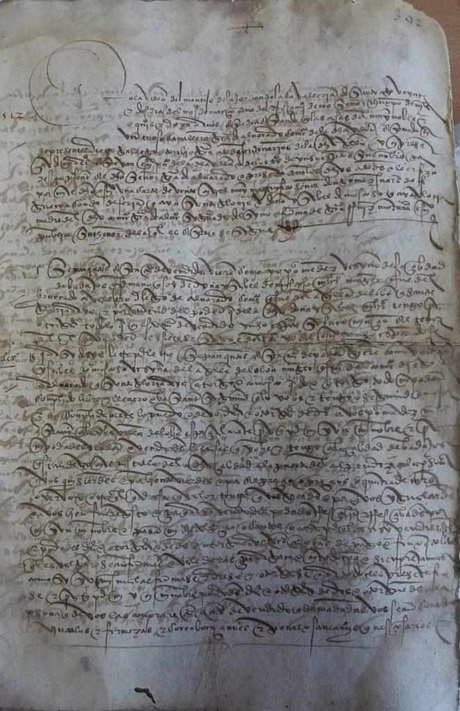 AHPB. Pedro de Tovar. 1631. Fol. 392