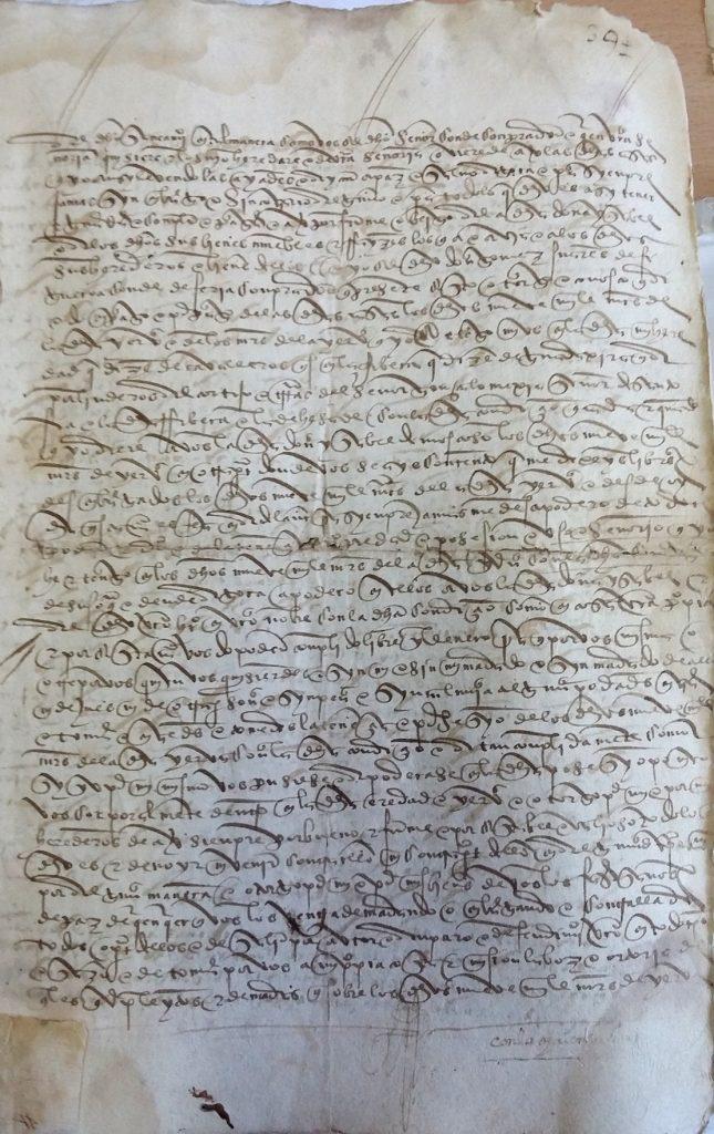 AHPB. Pedro de Tovar. 1631. Fol. 394