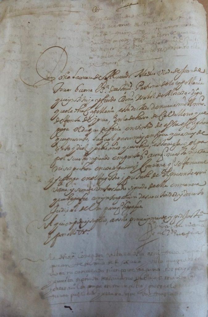 AHPB. Pedro de Tovar. 1631. Fol. 391