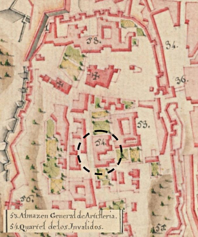 Lám.14. Detalle del castillo de Mércier de Chermont de 1775.