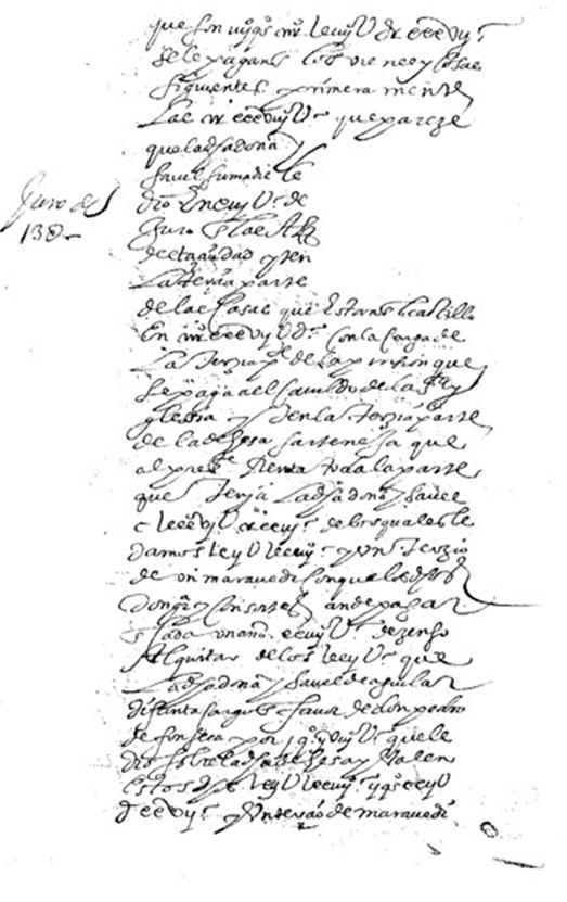 Lámina 8. División de los bienes de Isabel de Aguilar y Figueroa.
