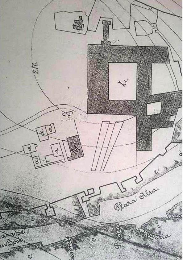 Lámina 10. Detalle del plano de José Albarrán de 1887.
