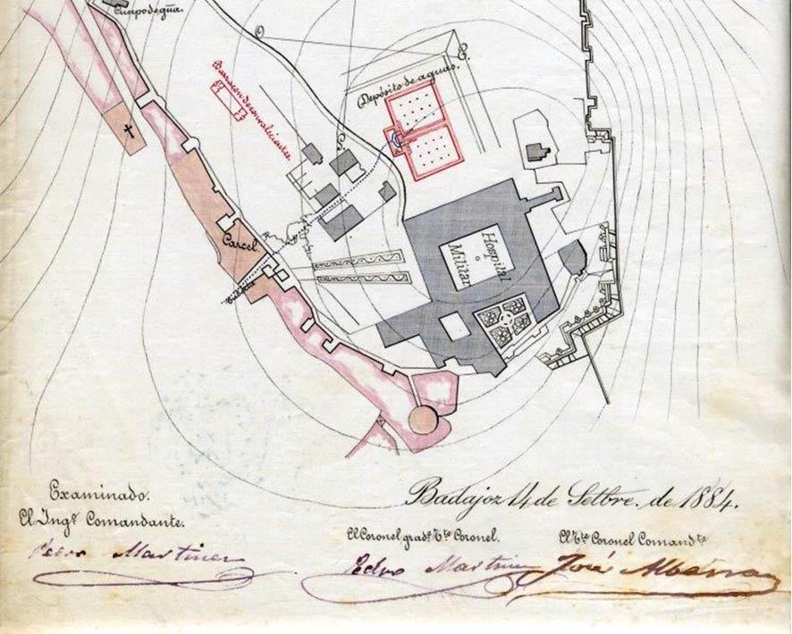 Lámina 12. Detalle del plano de la Comandancia de Ingenieros de 1884.