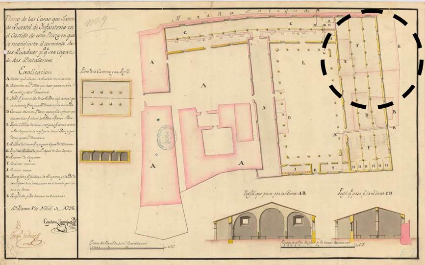 Lámina 13. Plano de Cayetano Zappino de 1798