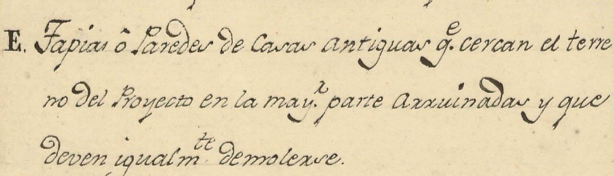 Lámina 13B. Detalle de la leyenda de Cayetano Zappino de 1798