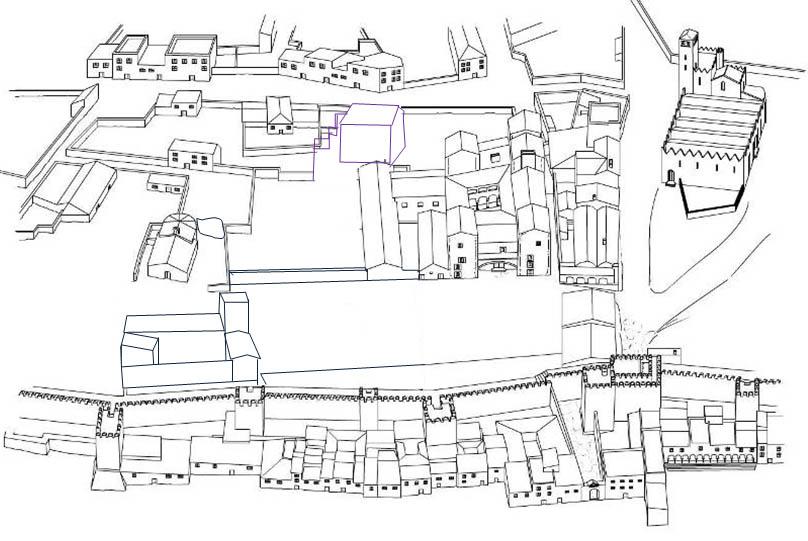 Lámina 16. Recreación de los almacenes de artillería según el plano de Salas de 1739.