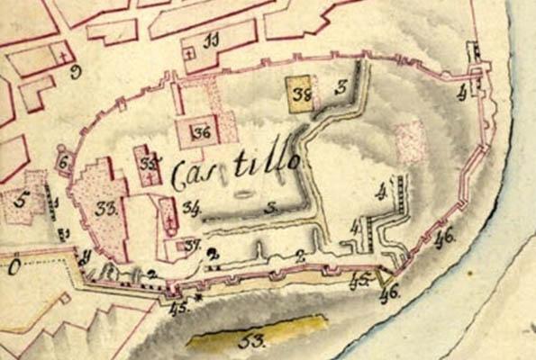 Lámina 2. Detalles del plano de Domingo Luis del Valle, de 1812.