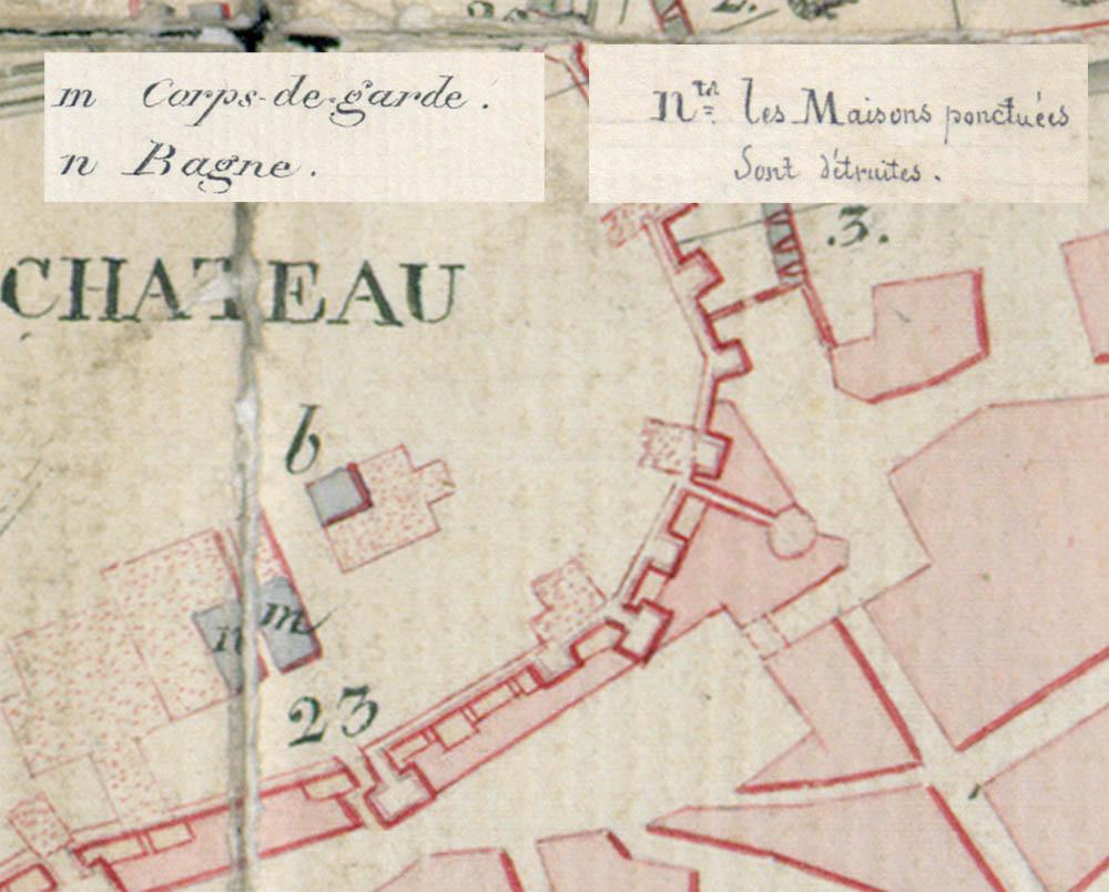 Lámina 6. Detalles del plano de Dautheville de 1824.