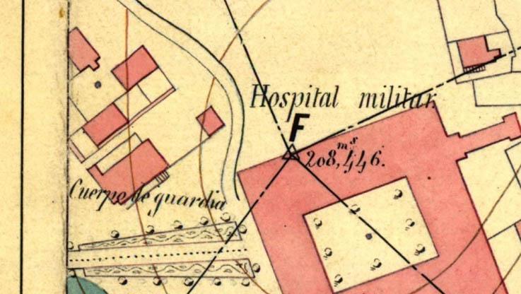 Lámina 8. Detalle del plano de Calderón y Ortega de 1868.