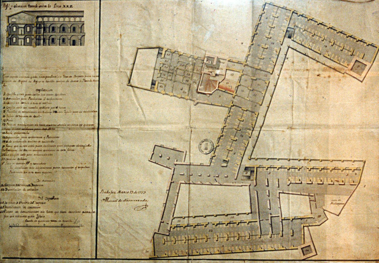 Lámina 1. Proyecto de ampliación del Hospital del Rey, de Manuel Navacerrada, 1779