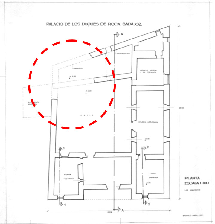 Lámina 1. Planta del museo de 1971. Archivo IPCE