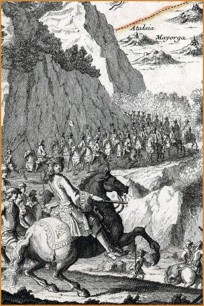 Los dibujos de Filippo Pallotta de la campaña de Portugal de 1704
